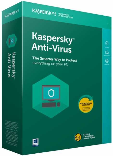 Kaspersky Antivirus 3 PC 1 Year