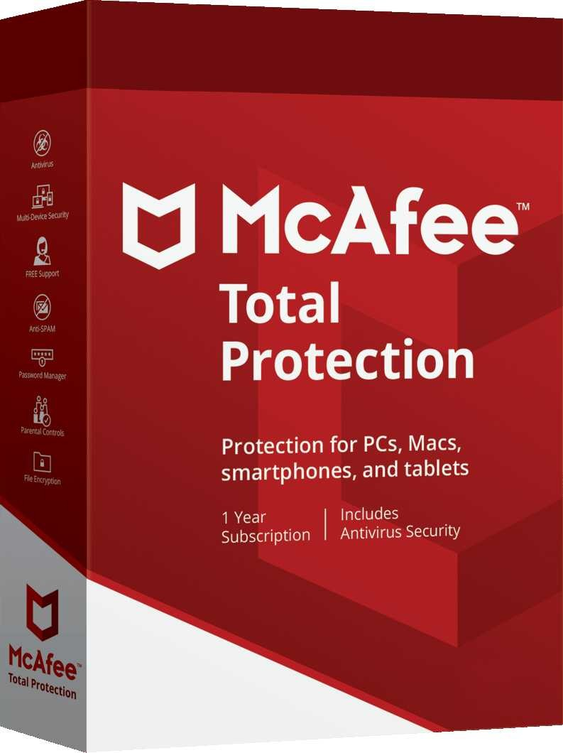 McAfee Total Protection 1 PC 1 Year