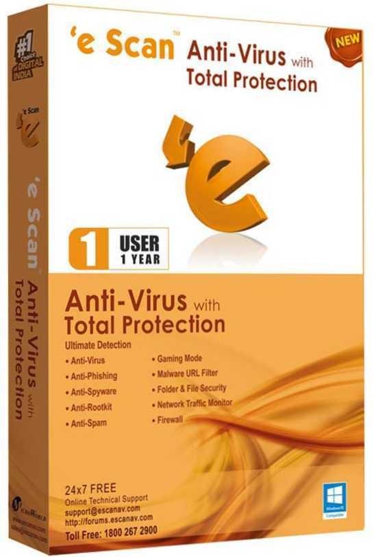 eScan Antivirus 1 PC 1 Year