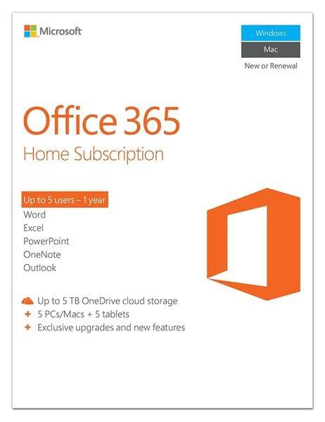 Microsoft Office 365 Home 6 User 1 Year