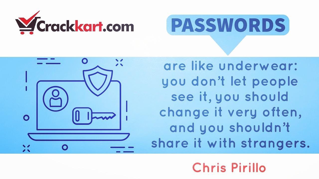 Passwords are like Underwear!