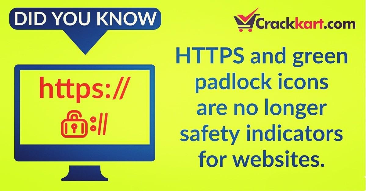 HTTPS and Green Pad locks are no longer safety indicators