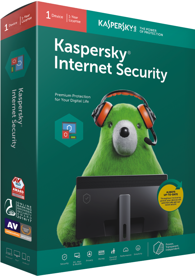 Kaspersky Internet Security 3 PC 1 Year