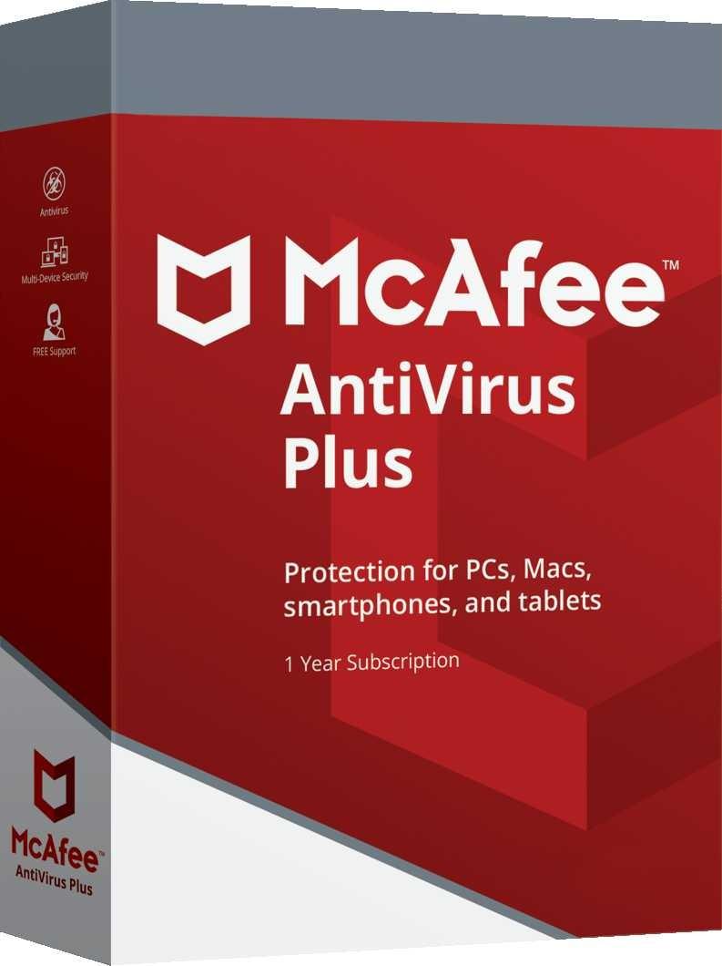 McAfee Antivirus 1 PC 1 Year